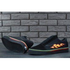 Кеды Vans Old School Black Core Fire