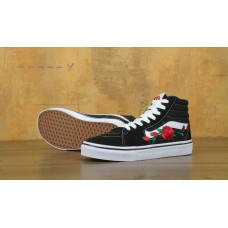 Кеды Vans SK8 Old Skool Black White Rose