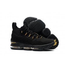 Кроссовки Nike LeBron XV 15 Black Gold Bottom Tan