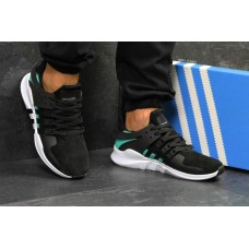 """Кроссовки Adidas EQT Support """"Black/White"""" Suede"""
