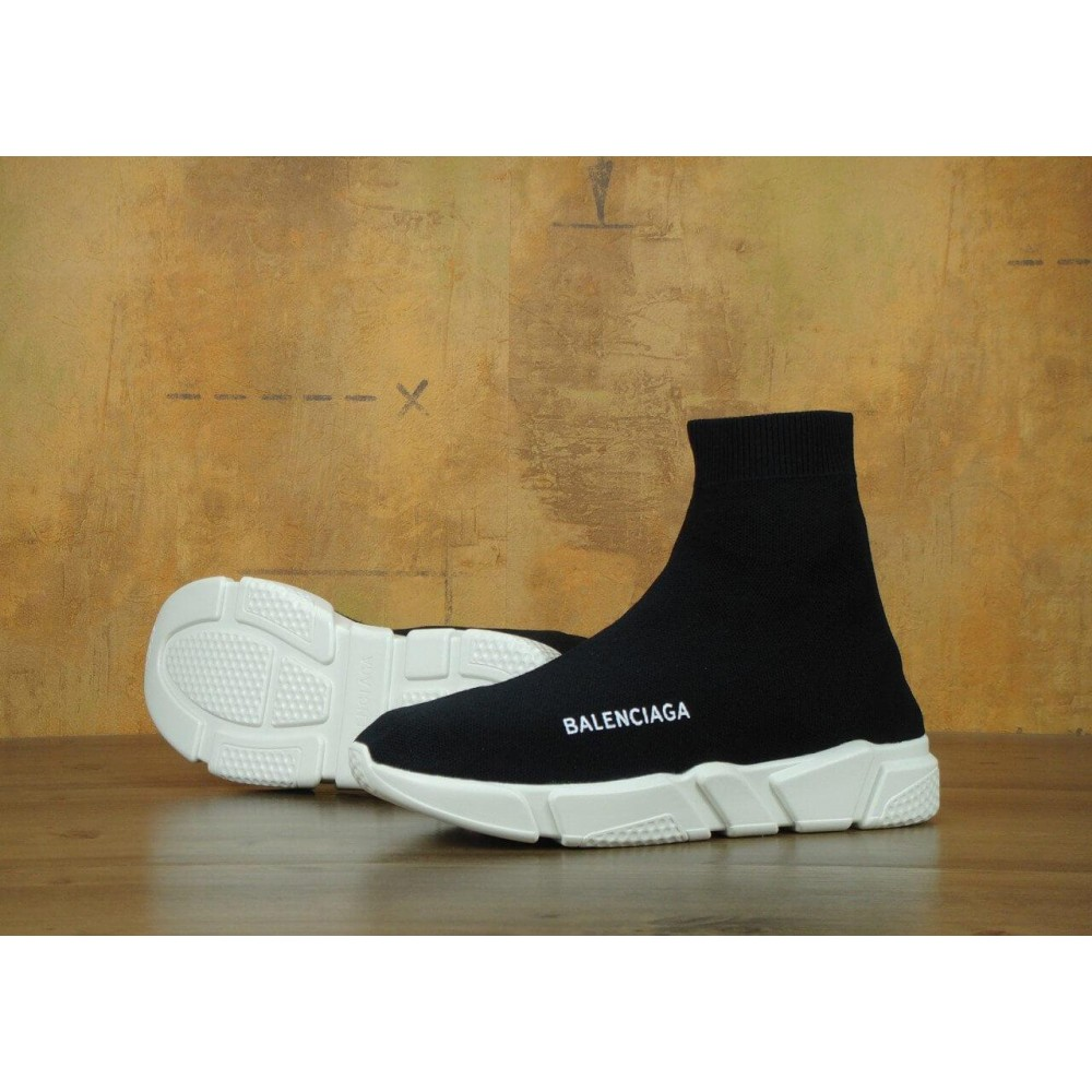 "Кроссовки Balenciaga Speed Trainer ""Black/White"" (Черный)"