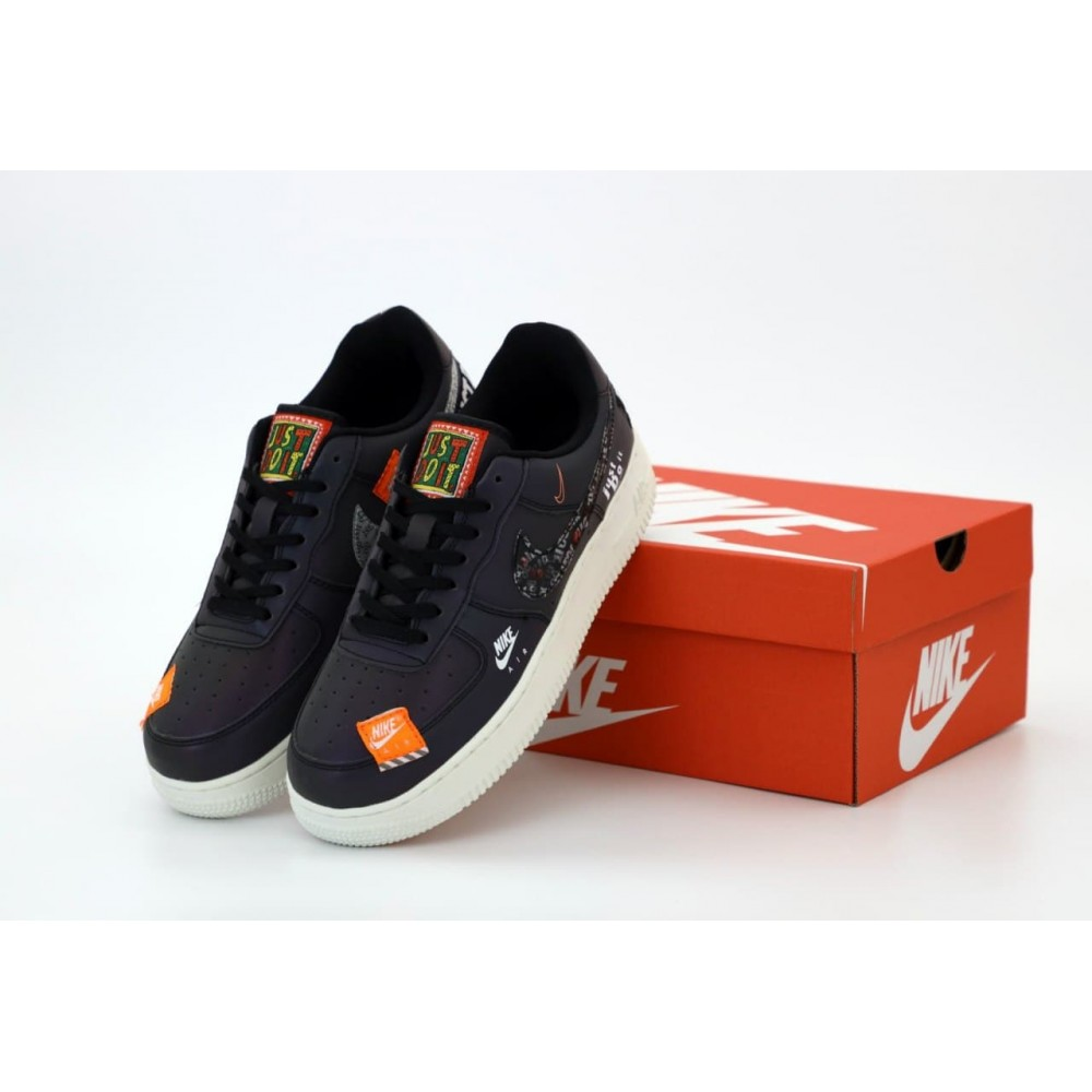 "Кроссовки Nike Air Force 1 Low Just Do It ""Black"" (Черный)"