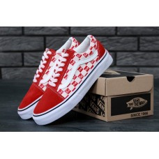 "Кеды Vans Old Skool ""Red/White"""