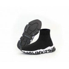 "Кроссовки Balenciaga Speed Trainer ""Black/White"" c надписью"