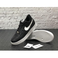 "Кроссовки Nike Air Force 1 Low ""Black/White"" на Меху"