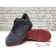 "Кроссовки Nike Air Force 1 Low ""Gray/Red"" на Меху"