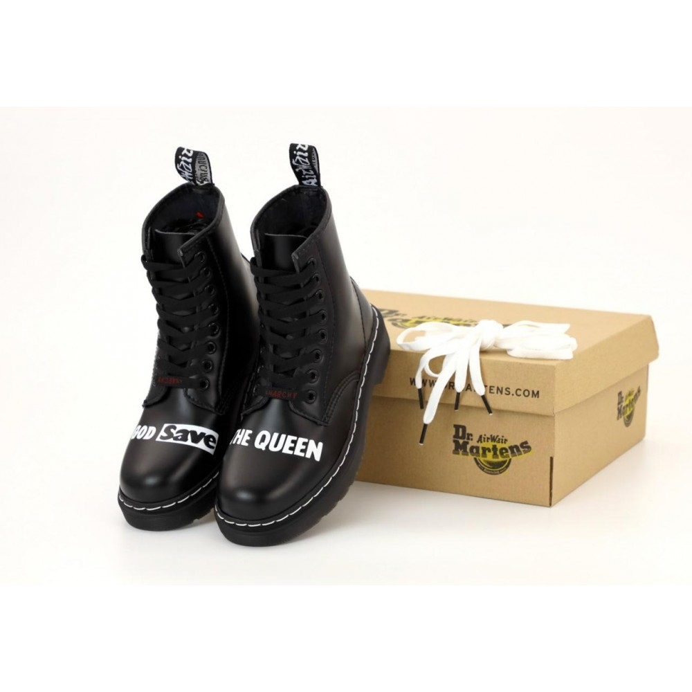 "Ботинки Sex Pistols & Dr. Martens ""God Save the Queen"" ""Black"" (Черный)"