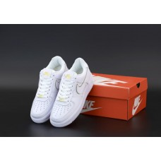 """Кроссовки NIKE AIR FORCE 1 LOW """"White/Gold"""""""