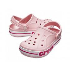 """Детские кроксы Crocs Kids' Bayaband Clog Volt """"Pink"""""""