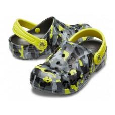"""Детские кроксы Crocs Kids' Baya Clog Volt """"Вlack/Сamouflage/Green"""""""