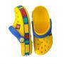 "Детские Кроксы Crocs Kids' Crocband LEGO ""Yellow/Sea/Blue"" (Желтый)"