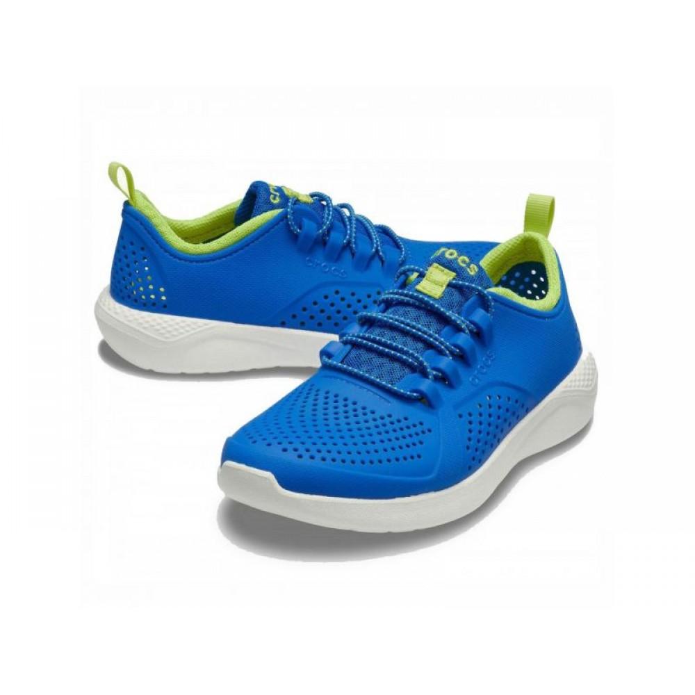 """Детские Кроссовки Кроксы Crocs Kids' LiteRide™ Pacer """"Blue/White"""" (Голубой)"""