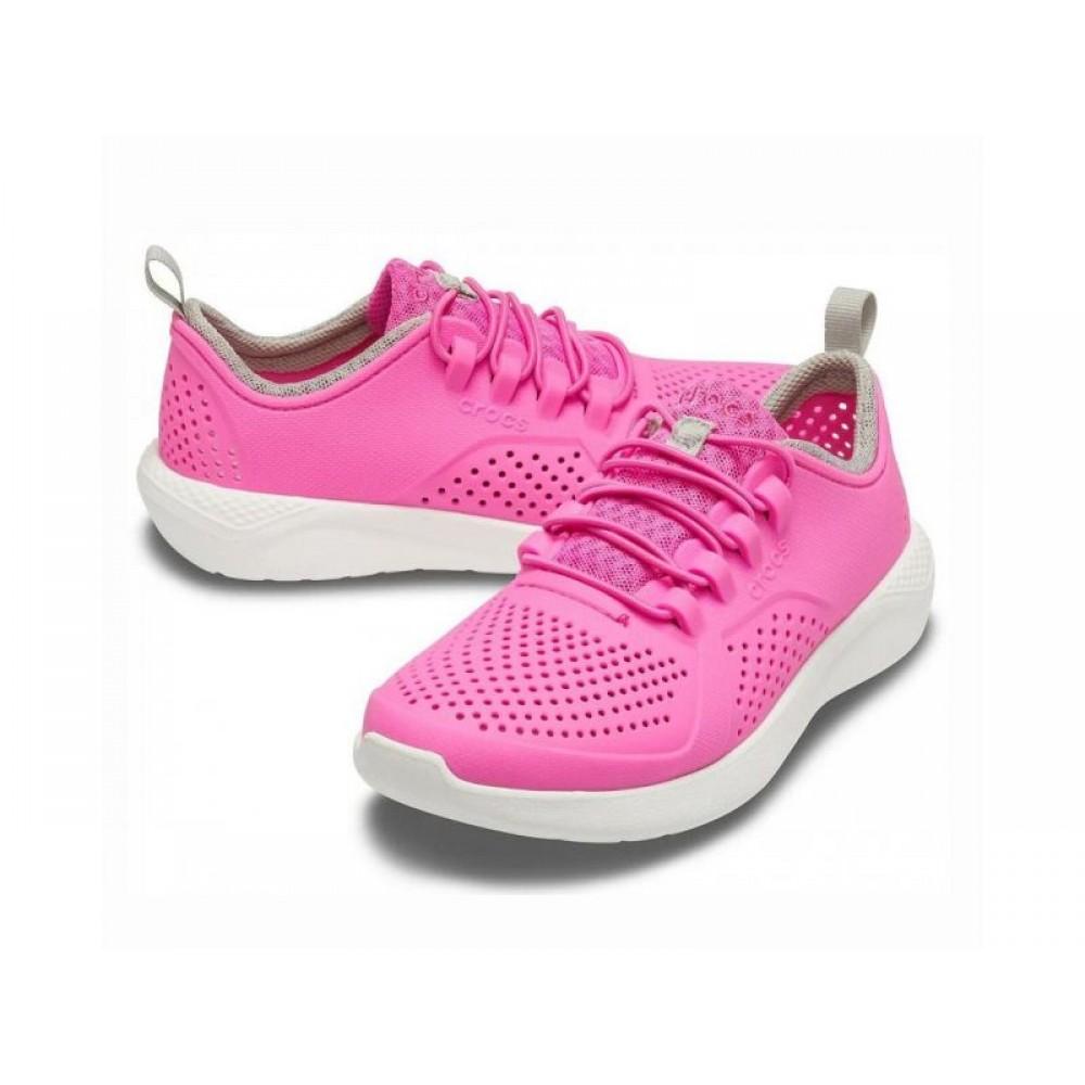 """Детские Кроссовки Кроксы Crocs Kids' LiteRide™ Pacer """"Pink/White"""" (Розовый)"""