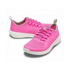 "Детские Кроссовки Кроксы Crocs Kids' LiteRide™ Pacer ""Pink/White"""