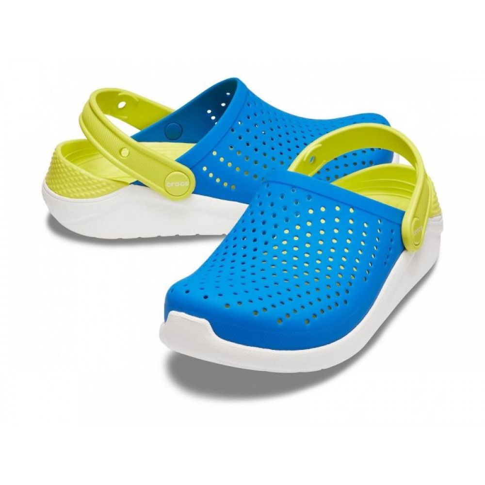 """Кроксы Crocs Kids' LiteRide™ """"Blue/Green"""" (Голубой, Зеленый)"""