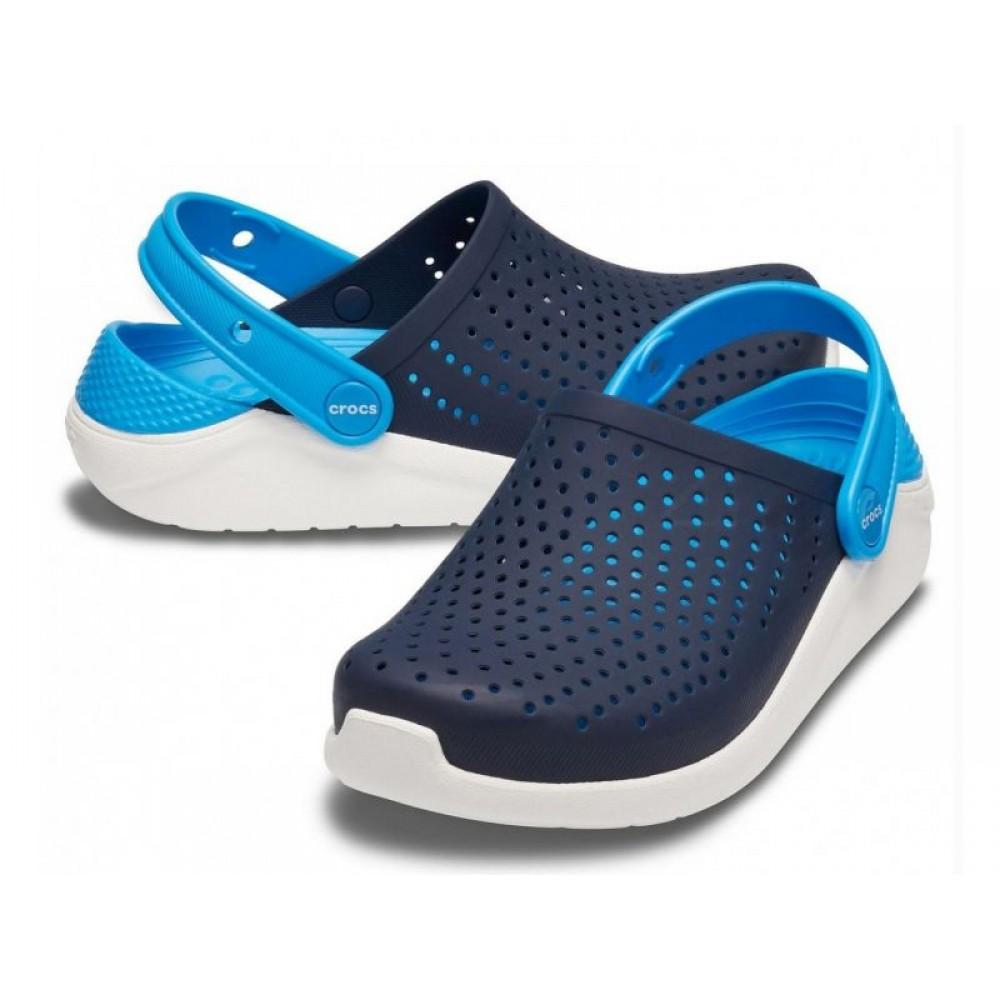 "Кроксы Crocs Kids' LiteRide™ ""Navy/Blue"" (Синий, Голубой)"