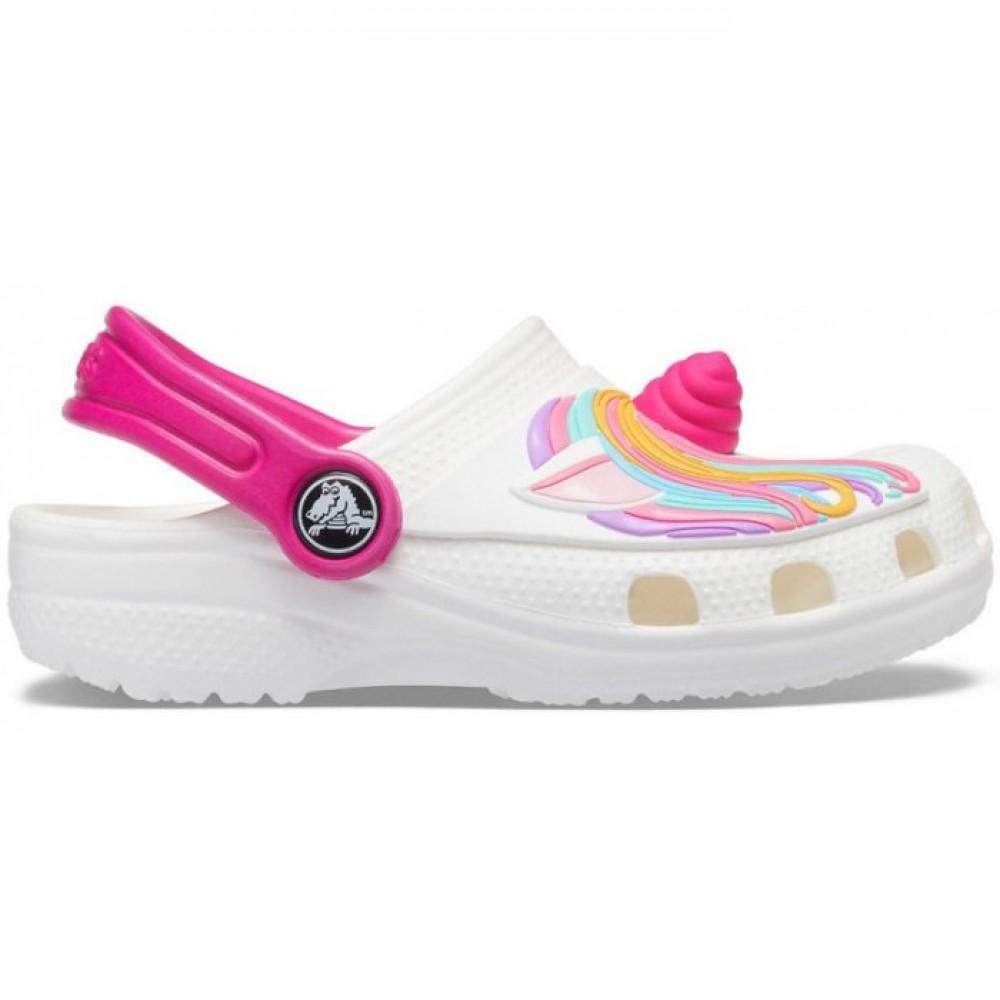 "Детские Crocs Classic Unicorn ""White"" (Белый, Розовый)"