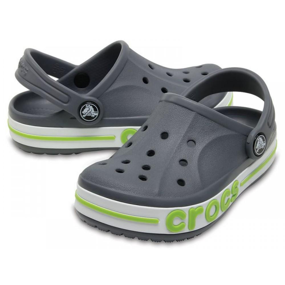 """Детские кроксы Crocs Kids' Bayaband Clog Volt """"Grey"""" (Серый)"""