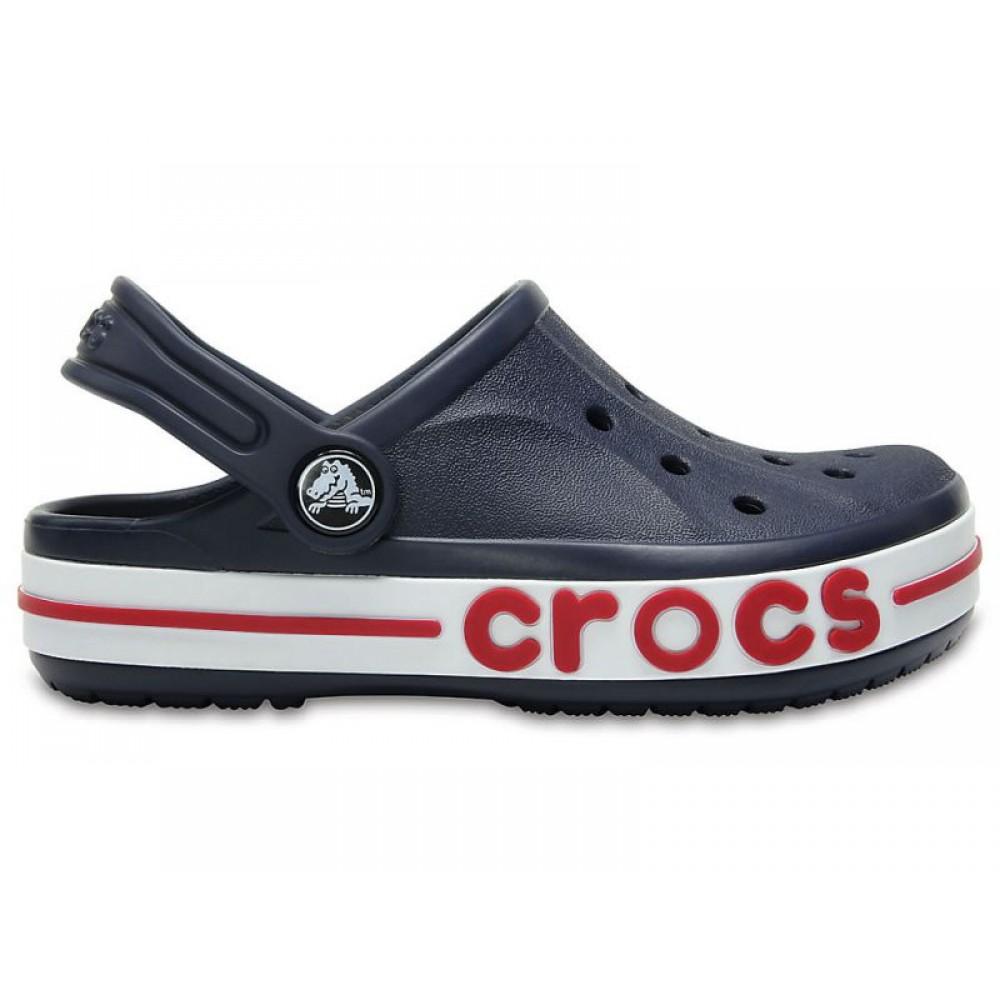 """Детские кроксы Crocs Kids' Bayaband Clog Volt """"Navy"""" (Темно-синий)"""