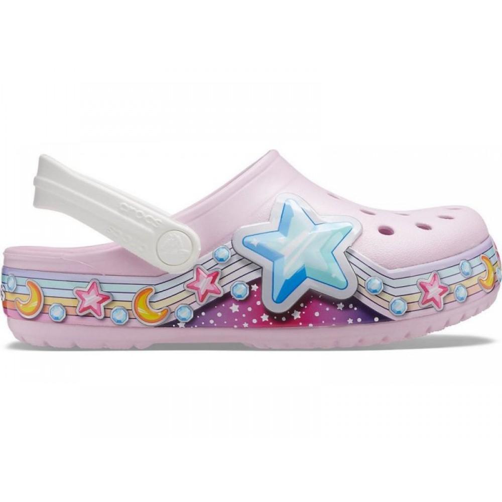 """Детские кроксы Crocs Kids' Bayaband Clog """"Light Pink (Розовый)"""