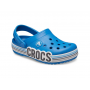 "Кроксы Crocs Kids' Crocband Clog Logo Stripe Poppy ""Blue"" (Голубой)"