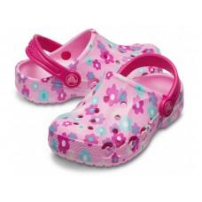 """Детские кроксы Crocs Kids' Baya Clog Volt Flowers """"Pink"""""""