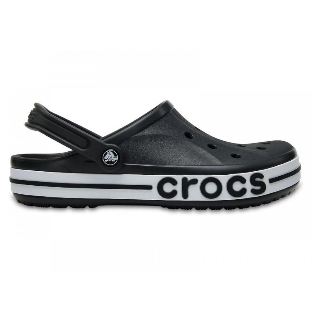 """Кроксы Crocs Bayaband Clog Volt """"Вlack/White"""" (Черный)"""