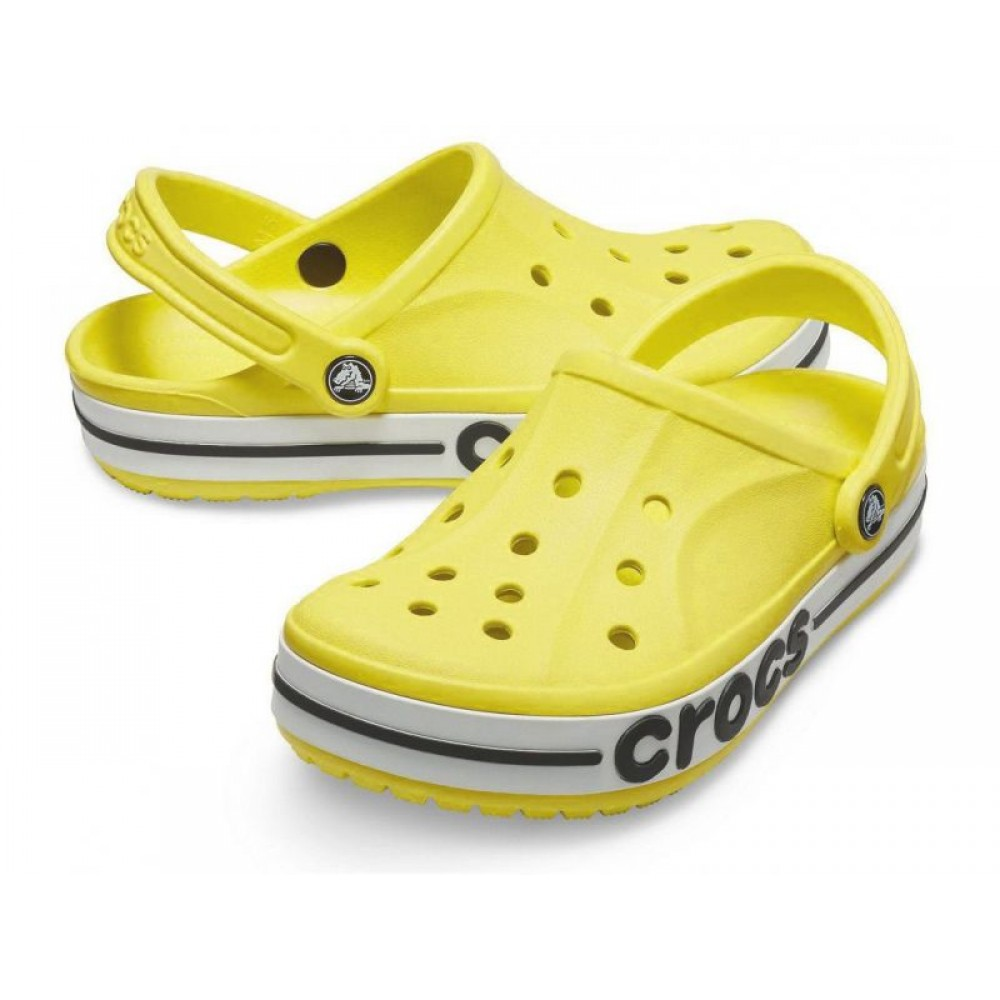 "Кроксы Crocs Bayaband Clog Volt ""Yellow/White"" (Желтый)"