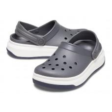 """Кроксы на толстой подошве Crocs Crocband Full Force Clog """"Grey/White"""""""