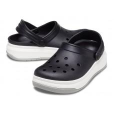 """Кроксы на толстой подошве Crocs Crocband Full Force Clog """"Вlack/White"""""""