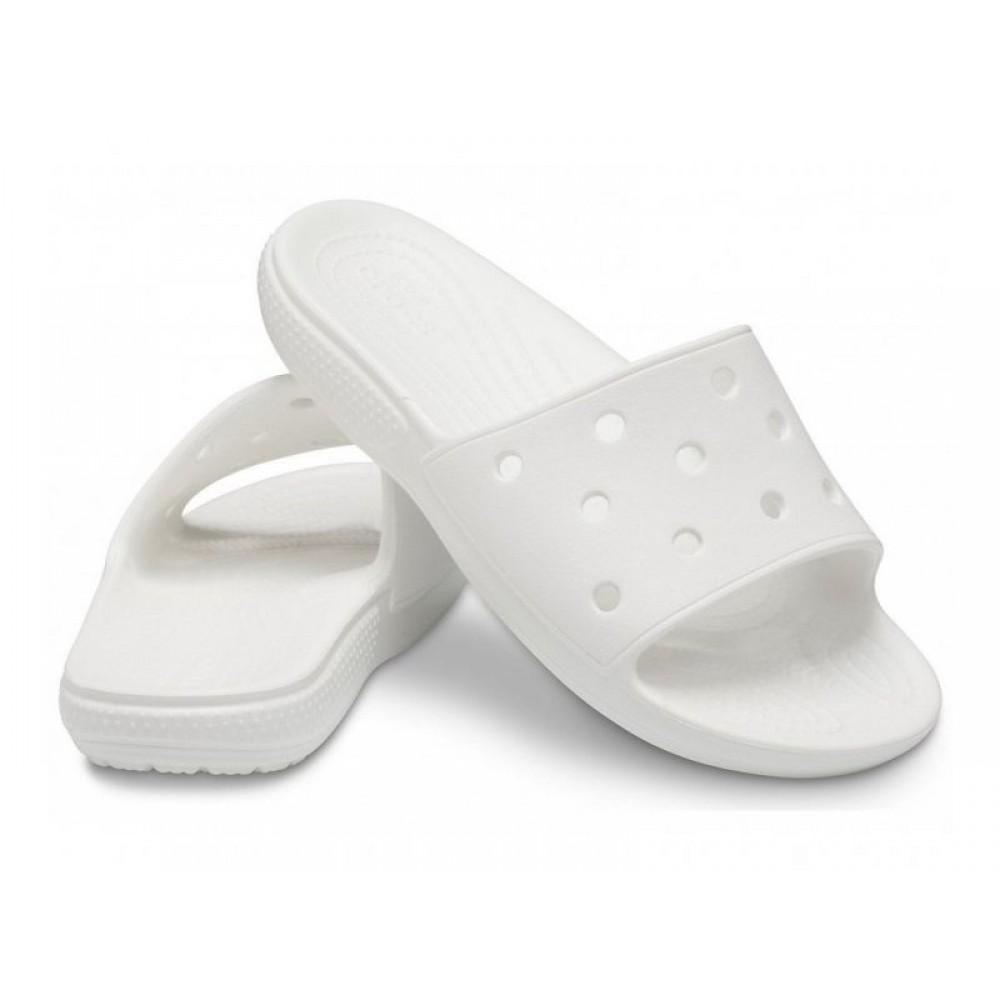 """Шлепки Crocs Classic Slide """"White"""" (Белый)"""