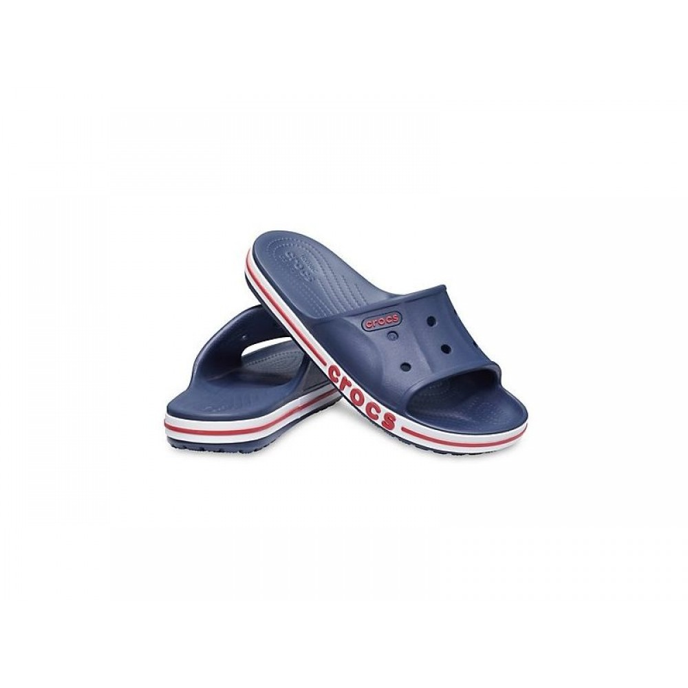 "Шлепки Crocs Bayaband Slide ""Dark Blue"" (Темно-синий)"