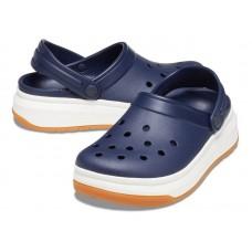 """Кроксы на толстой подошве Crocs Crocband Full Force Clog """"Blue/White"""""""