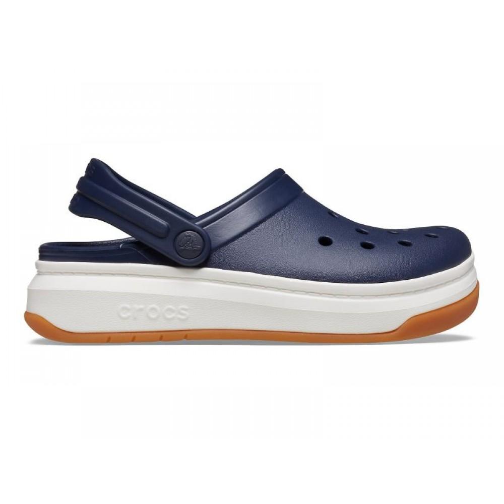 """Кроксы на толстой подошве Crocs Crocband Full Force Clog """"Blue/White"""" (Синий)"""