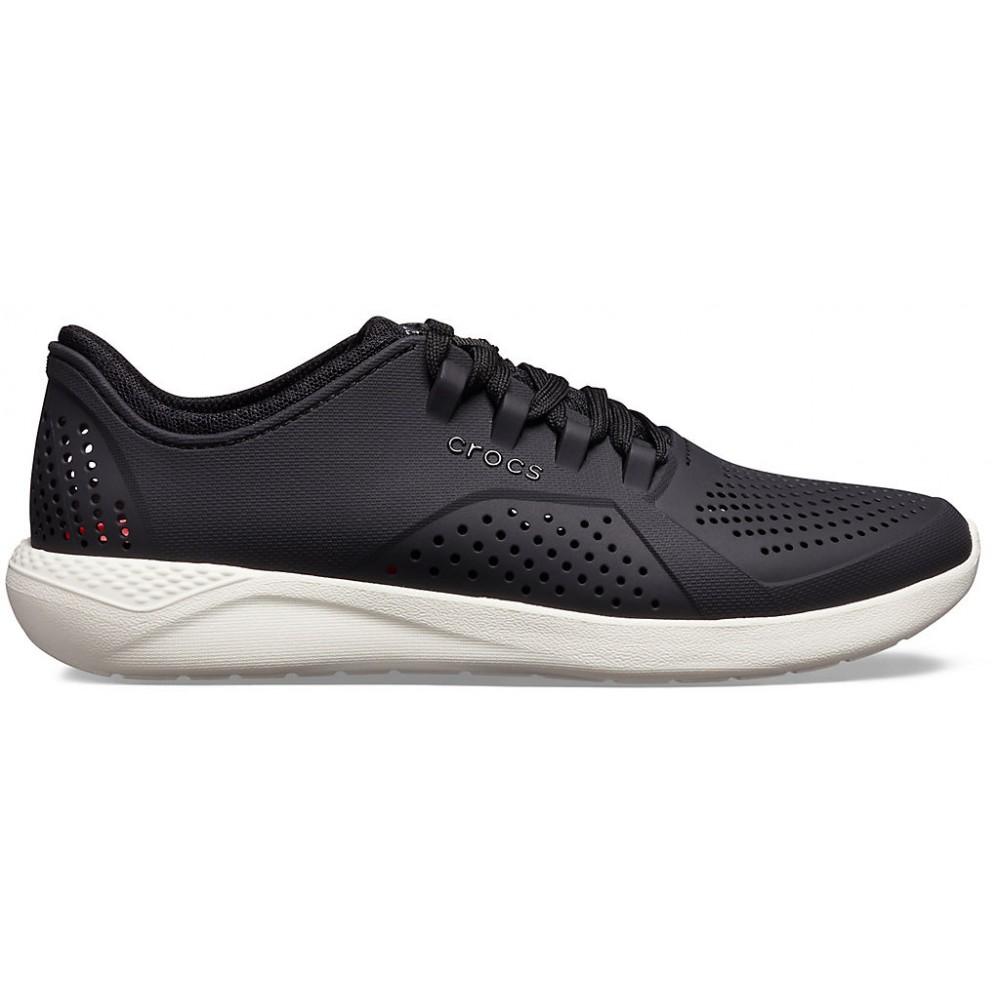 """Кроссовки Кроксы Crocs LiteRide™ Pacer """"Black/White"""" (Черный)"""