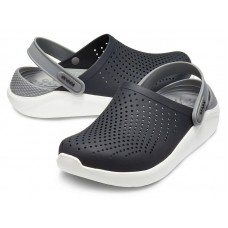 "Сабо Кроксы Crocs LiteRide™ Clog ""Black/Grey/White"""