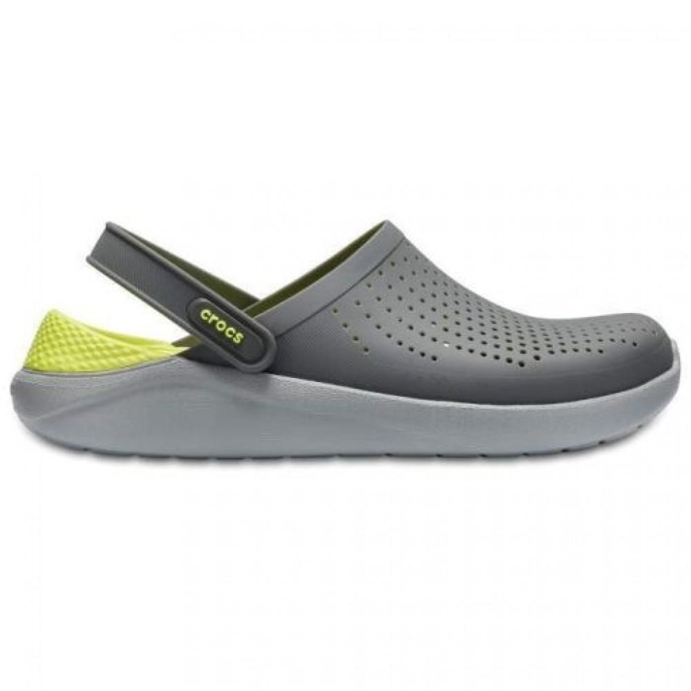 """Сабо Кроксы Crocs LiteRide™ Clog """"Grey/Light Green"""" (Серый, Салатовый)"""
