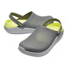 """Сабо Кроксы Crocs LiteRide™ Clog """"Grey/Light Green"""""""