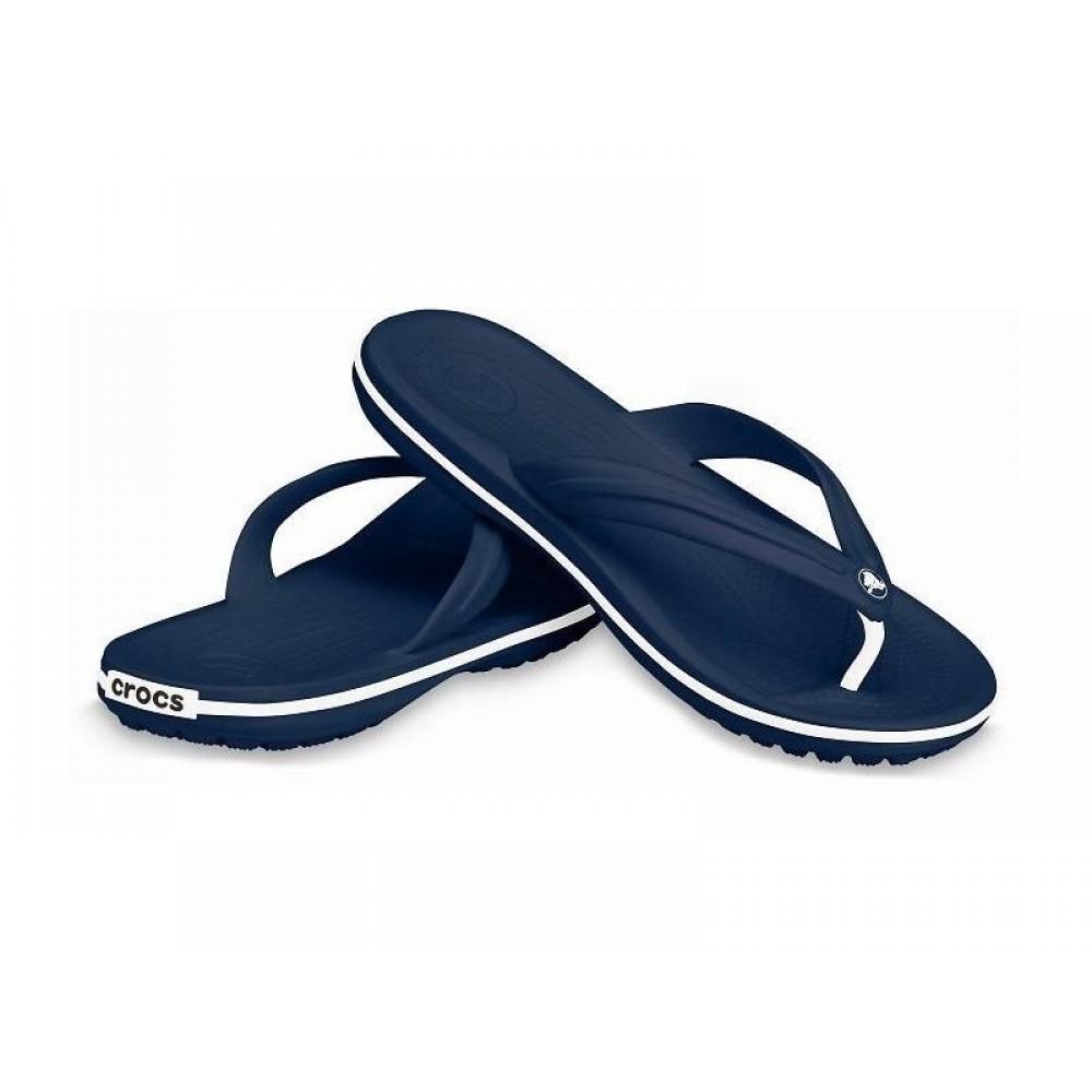 "Вьетнамки Crocs Crocband™ Flip ""Navy"" (Темно-синий)"