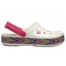 "Кроксы Crocs Crocband Gallery Clog ""White/Crimson"""