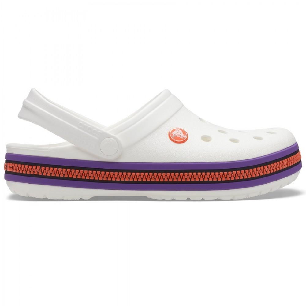 "Кроксы Crocs Crocband ZIPPER BANG ""White"" (Белый)"