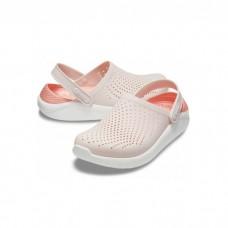 "Сабо Кроксы Crocs LiteRide™ Clog ""Beige Powder/White"""