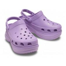 "Кроксы на платформе Crocs Classic Bae Clog ""Рurple"""