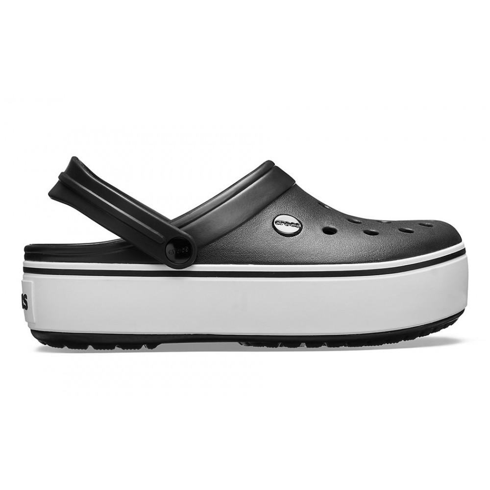 """Сабо Кроксы Crocs Platform """"Black/White"""" (Черный)"""