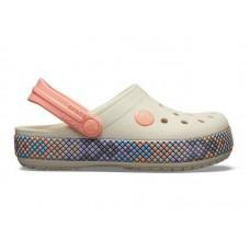 "Кроксы Crocs Crocband Gallery Clog ""White/Peach"""