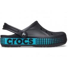 """Кроксы Crocs Bayaband Clog Volt """"Вlack/Blue"""""""