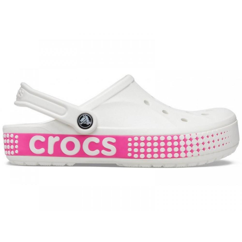 """Кроксы Crocs Bayaband Clog Volt """"White/Pink"""" (Белый)"""
