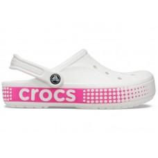 """Кроксы Crocs Bayaband Clog Volt """"White/Pink"""""""