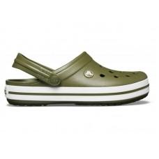 "Кроксы Crocs Crocband Army ""Khaki"""