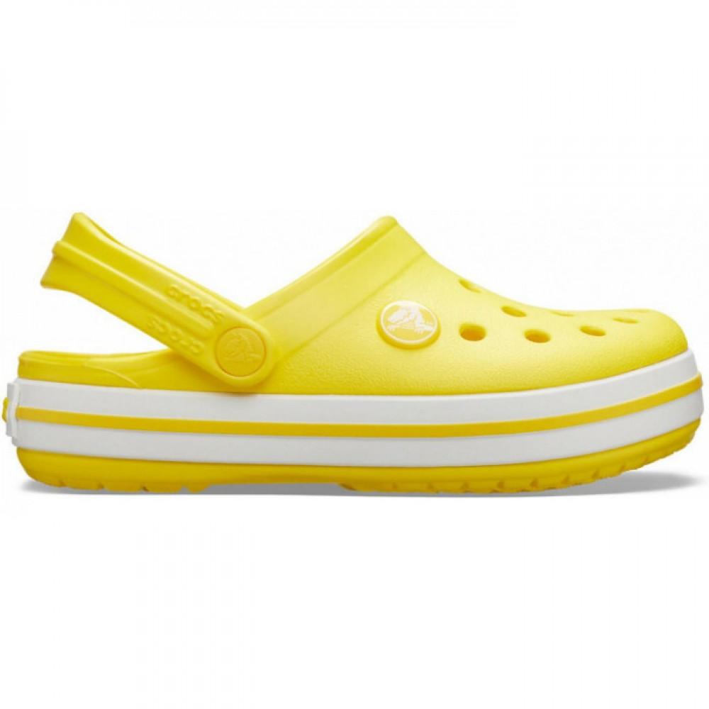 "Кроксы Crocs Crocband Clog ""Lemon/White"" (Ярко-желтый)"